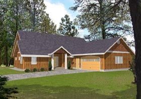 Traditional House Plan 87116 with 3 Beds, 2.5 Baths, 2 Car Garage Elevation