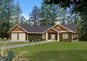 Craftsman Ranch House Plan 87117 Elevation