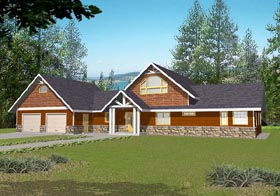 House Plan 87118 | Traditional Style Plan with 2177 Sq Ft, 2 Bedrooms, 2.5 Bathrooms, 2 Car Garage Elevation