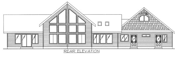 House Plan 87118 | Traditional Style Plan with 2177 Sq Ft, 2 Bedrooms, 2.5 Bathrooms, 2 Car Garage Rear Elevation