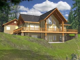 House Plan 87119 Elevation
