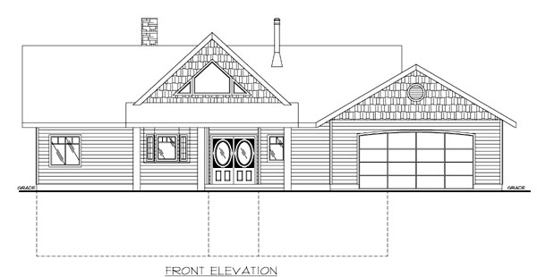 House Plan 87119 Rear Elevation