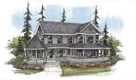 Farmhouse Victorian House Plan 87120 Elevation