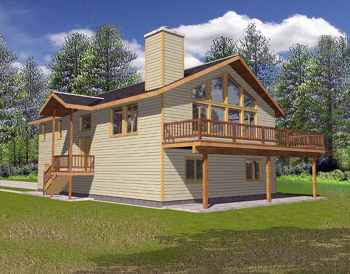 One-Story, Ranch House Plan 87124 with 3 Beds, 2.5 Baths, 2 Car Garage Elevation