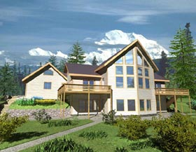 Contemporary House Plan 87127 with 4 Beds, 2.5 Baths, 2 Car Garage Elevation