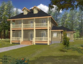 Country House Plan 87128 Elevation