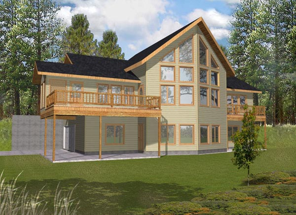 Contemporary House Plan 87129 Elevation