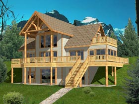 Contemporary House Plan 87130 Elevation