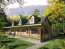 Cabin Country House Plan 87131 Elevation