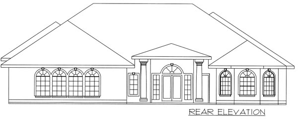 Contemporary Traditional House Plan 87132 Rear Elevation