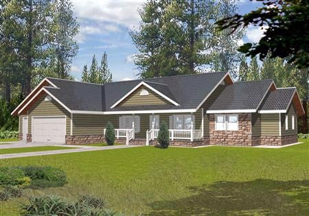 Traditional House Plan 87135 with 3 Beds, 4 Baths, 3 Car Garage Elevation