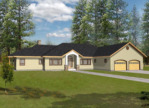 Contemporary Traditional House Plan 87136 Elevation