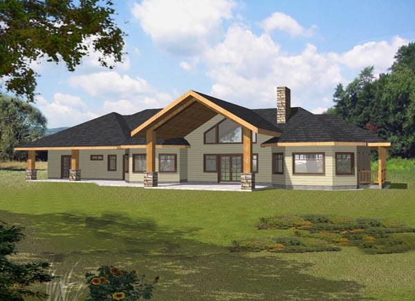 Contemporary Traditional House Plan 87136 Rear Elevation