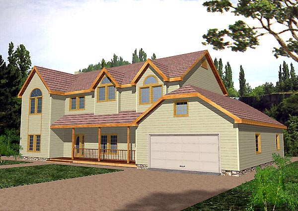 Country Traditional House Plan 87137 Elevation