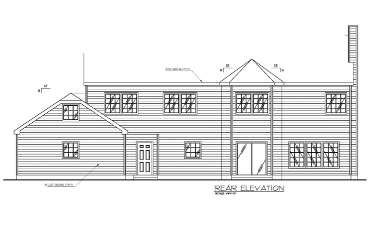 Country Traditional House Plan 87137 Rear Elevation