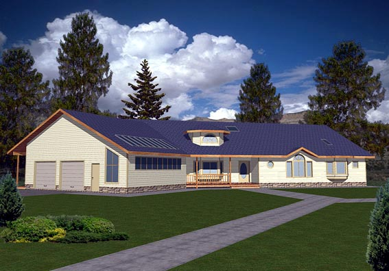 Ranch House Plan 87139 Elevation