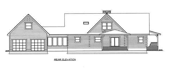 Log House Plan 87140 Rear Elevation