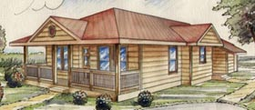 Cabin Traditional House Plan 87141 Elevation