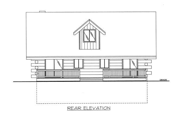 Log House Plan 87142 Rear Elevation