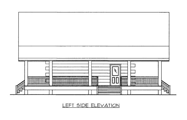 Country, Log House Plan 87144 with 1 Beds, 1 Baths Picture 1
