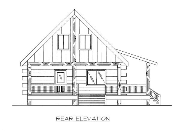 Country Log House Plan 87144 Rear Elevation