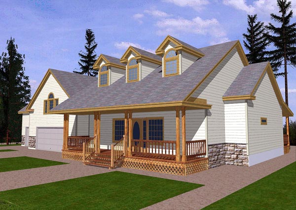 Country Traditional House Plan 87145 Elevation