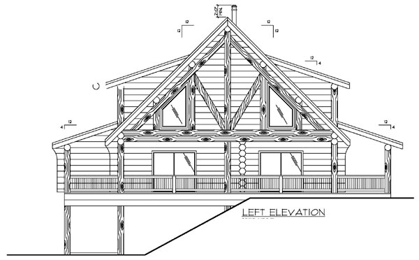 Log House Plan 87147 with 3 Beds, 4 Baths Picture 1