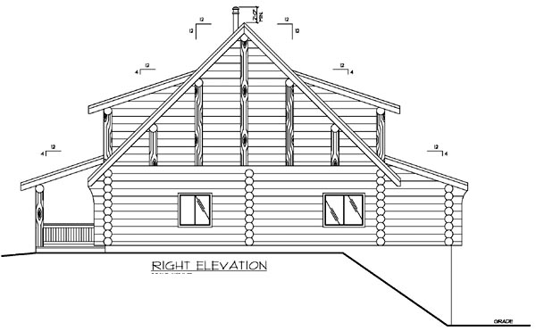Log House Plan 87147 with 3 Beds, 4 Baths Picture 2