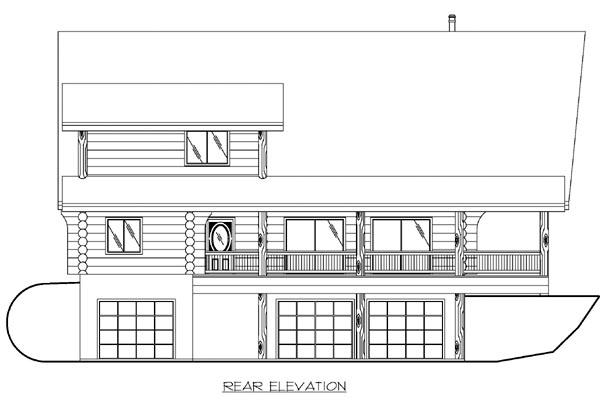 Log House Plan 87147 Rear Elevation