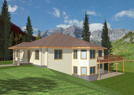 Contemporary Traditional House Plan 87150 Elevation