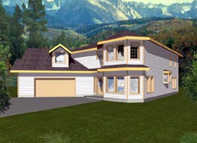 Contemporary House Plan 87151 with 3 Beds, 3 Baths, 2 Car Garage Elevation