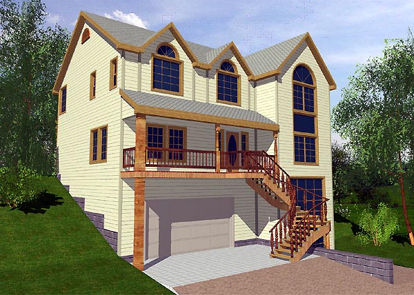 Traditional Elevation of Plan 87152