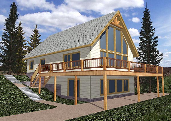 Contemporary House Plan 87153 Elevation