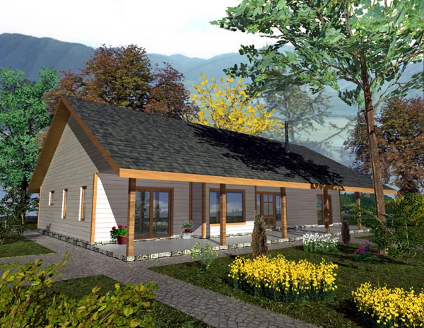 Ranch House Plan 87154 Elevation