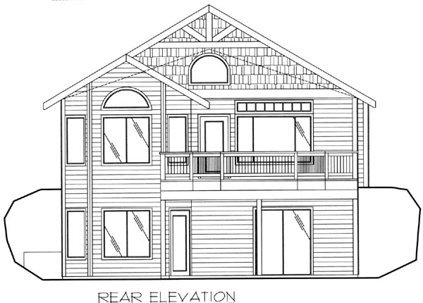 Contemporary House Plan 87155 Rear Elevation