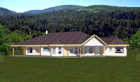 Contemporary Traditional House Plan 87157 Elevation