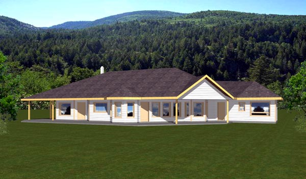 Traditional , Contemporary House Plan 87157 with 3 Beds, 3 Baths, 3 Car Garage Elevation