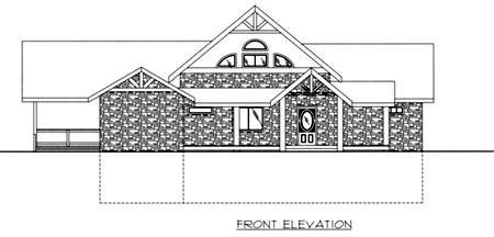 Contemporary House Plan 87159 Rear Elevation