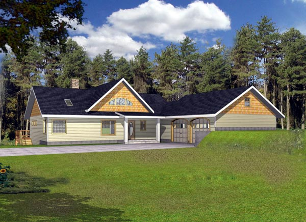 Craftsman Ranch House Plan 87160 Elevation