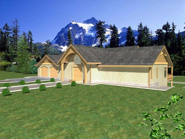 Ranch House Plan 87165 Elevation