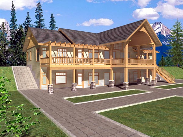 Ranch House Plan 87165 Rear Elevation