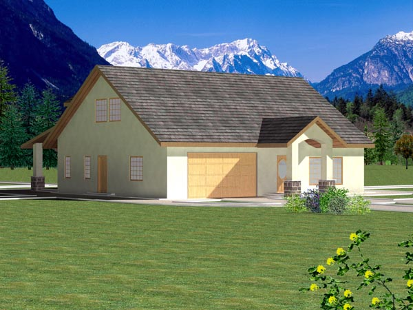 Ranch Elevation of Plan 87166