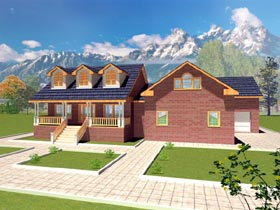 Country House Plan 87168 Elevation