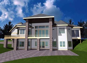 Contemporary House Plan 87169 Elevation