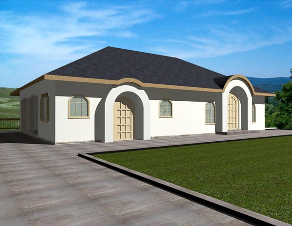 Florida House Plan 87170 with 3 Beds, 3 Baths, 2 Car Garage Elevation