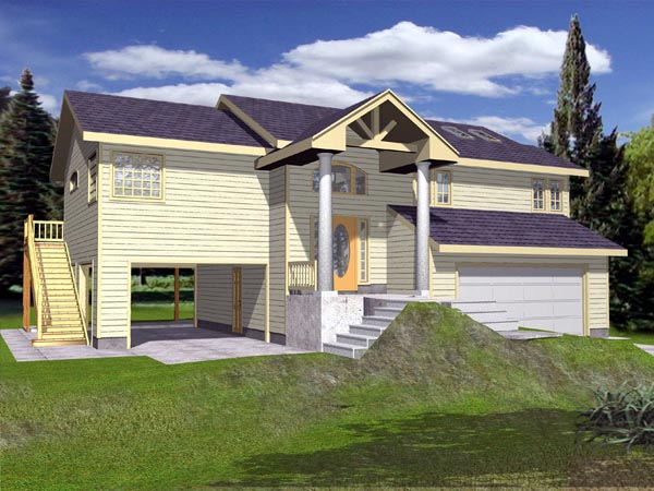 House Plan 87173 Elevation