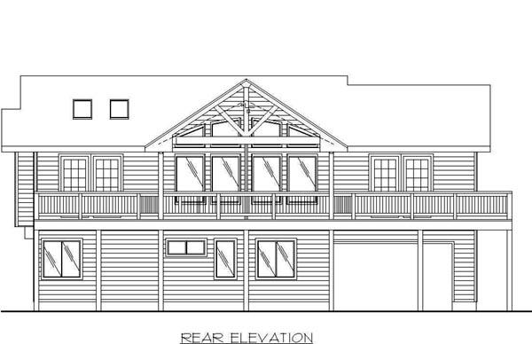 House Plan 87173 Rear Elevation