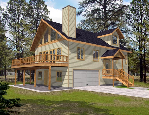 Narrow Lot, One-Story House Plan 87176 with 3 Beds, 3 Baths, 2 Car Garage
