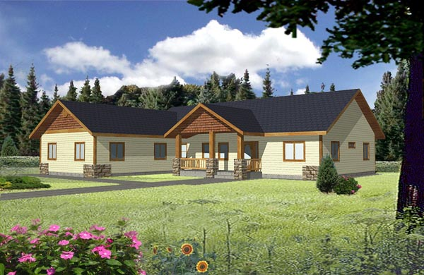 Ranch House Plan 87177 Elevation