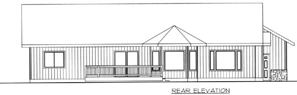 Ranch House Plan 87177 Rear Elevation